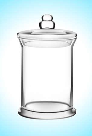 empty jar: Empty glass jar vector