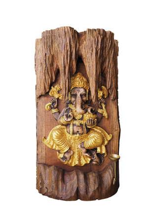 nataraja: Hindu God Ganesha on wood background