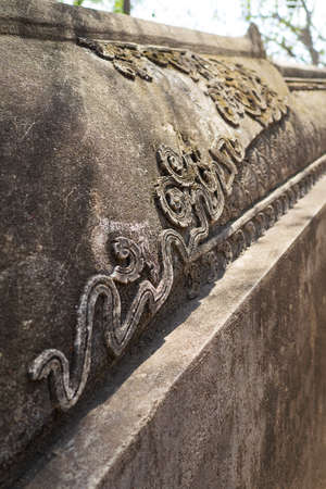 chaingmai: Handmade concrete stucco decoration in temple, Chaingmai the northern of Thailand.