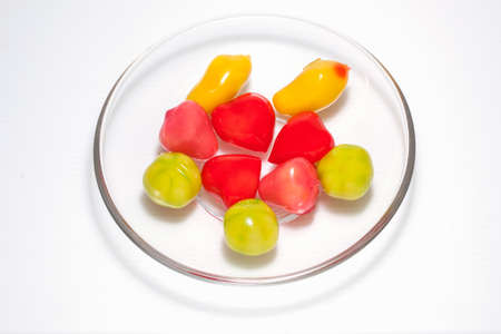 sweetened: Thailand ball plated dessert and Thailand dessert sweetened variety. Stock Photo