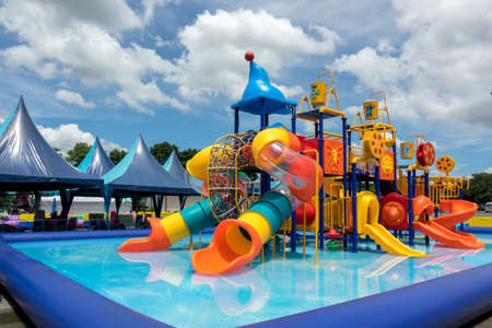 water park for kid at the day time Standard-Bild