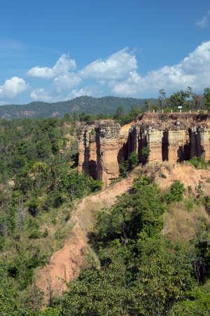 grand hard: Pha Singh Leaw canyon ,Chiang Mai,Thailand by drone