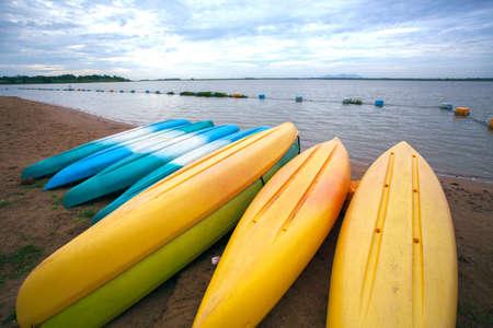 kayaks docked