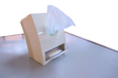 toothpick: Tissue box with toothpick Stock Photo