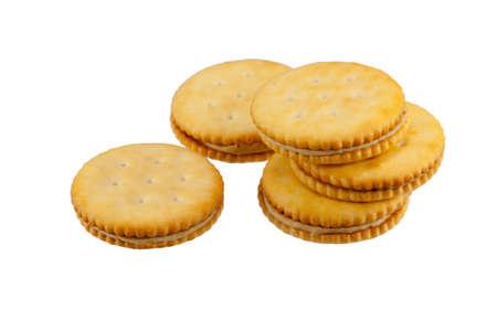 galletas integrales: mantequilla de maní y galletas saladas