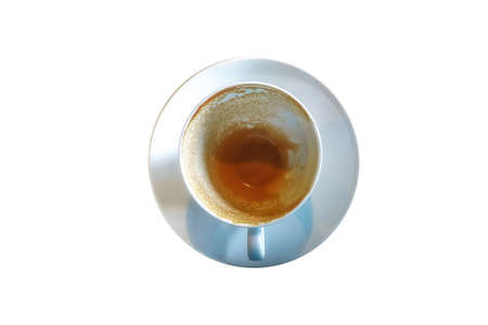 occultism: Empty cup after turkish coffee