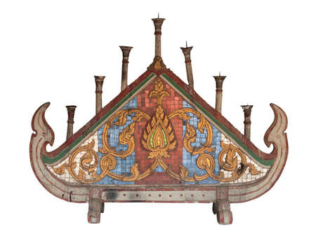 Handmade concrete stucco decoration in temple, Chaingmai the northern of Thailand.