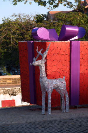 Christmas gift box Banco de Imagens