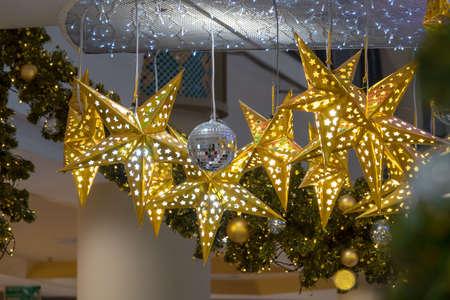 Golden star Standard-Bild