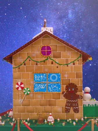 Homemade gingerbread house Banco de Imagens