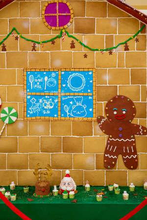 Homemade gingerbread house Standard-Bild