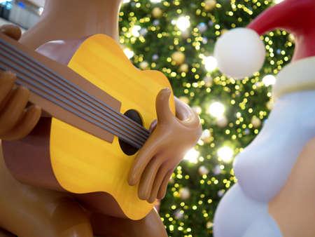Santas Cute Christmas Cartoon Reindeer