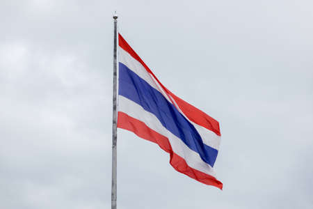National flag of Thailand Standard-Bild