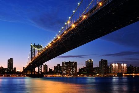Blick auf New York City bridge
