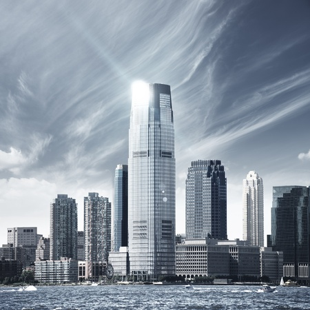 Future city - new york skyline Stock Photo - 9232423