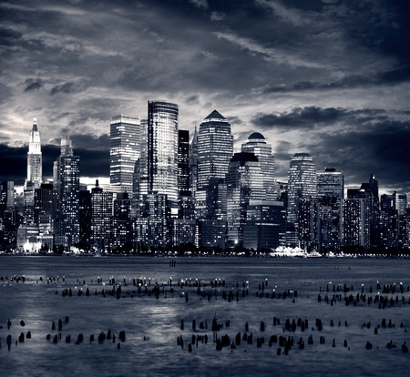 New York city manhattan taken from jersey side - hoboken Imagens