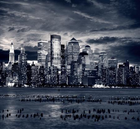New York city manhattan taken from jersey side - hoboken 免版税图像