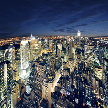 Big Apple after sunset - new york manhattan at night Stock Photo - 9326572