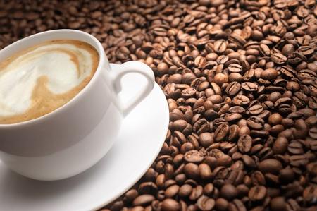 cappuccino with grain photo