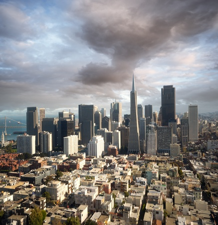 pyramid peak: San Francisco from above Stock Photo