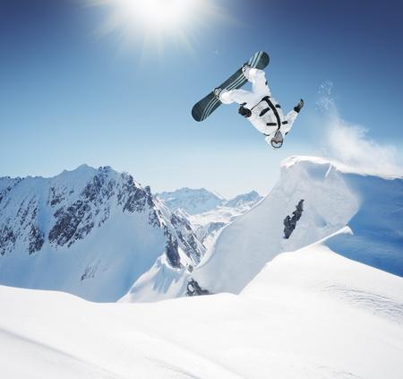 youth sports: Snowboard Jump