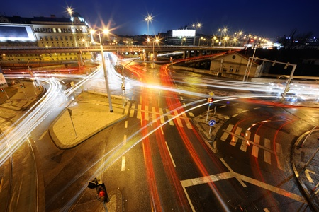 motorway: Intersection at night