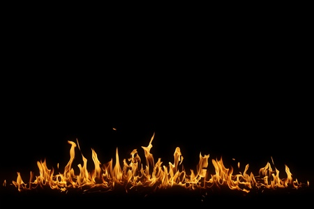 Isolated flame  Imagens