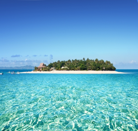 Amazing Fiji island and clear sea  免版税图像