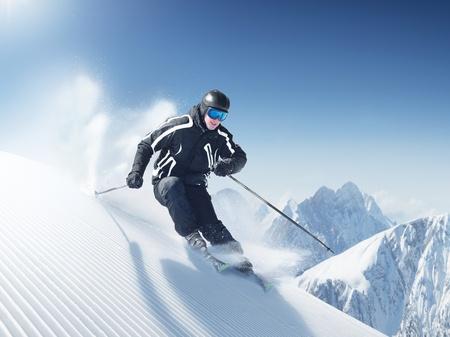 narciarz: Narciarz  Zdjęcie Seryjne