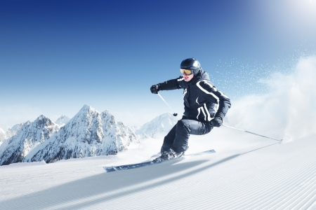 ski jump: Skier