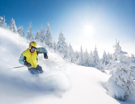 polvos: Esquiador.
