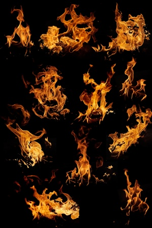 Demon: Flame samples, real photos  Stock Photo