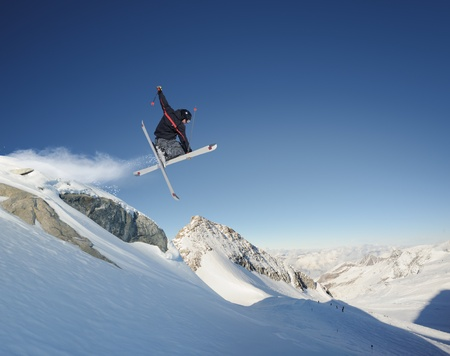 Jumping skier  photo
