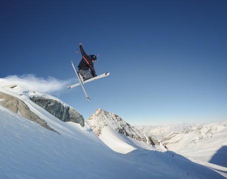 air jump: Jumping skier