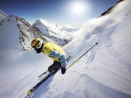ski lift: Skier