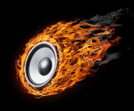 Burning luidspreker - ontwerp backroundfor posters
