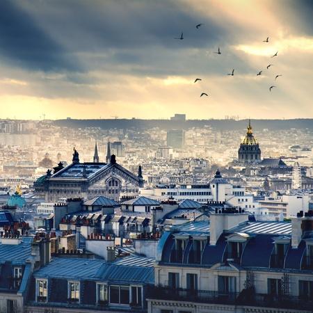 francia: Par�s paisaje urbano tomado de Montmartre