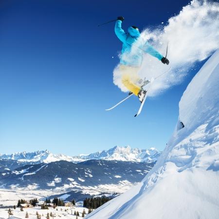 ジャンプ スキー 写真素材