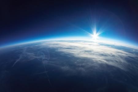 Near Space fotografie - 20 km boven de grond echte foto Stockfoto - 26129463