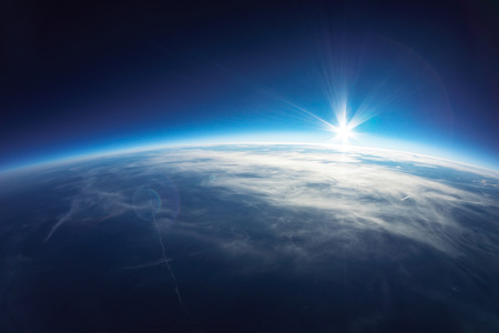 no cloud: Near Space photography - 20km above ground   real photo