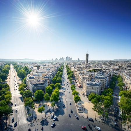 la defense: Paris Cityscape at sunny day Editorial