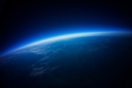 planete terre: Près espace photographie - 20 km au dessus du sol vraie photo Banque d'images