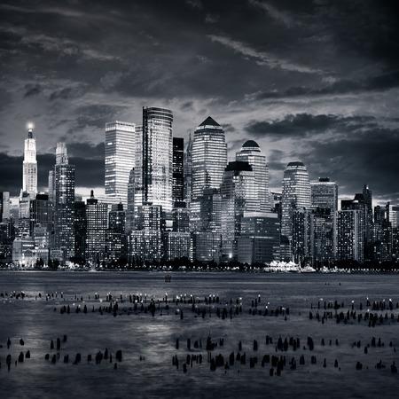 New york manhattan at sunset Imagens
