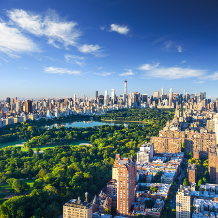 Central Park aerial view, Manhattan, New York 免版税图像