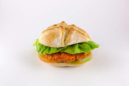 breading: crispy chicken sandwich