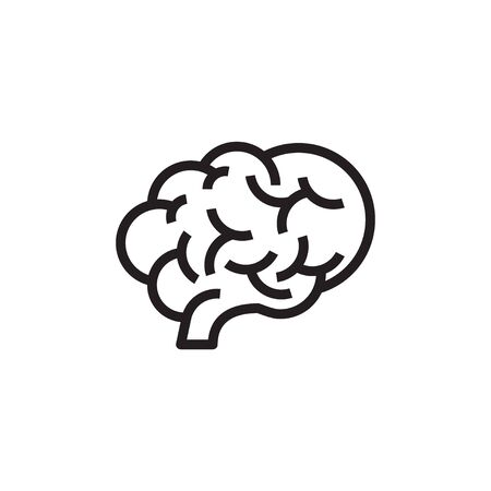 flat brain icon symbol sign, logo template, vector  イラスト・ベクター素材