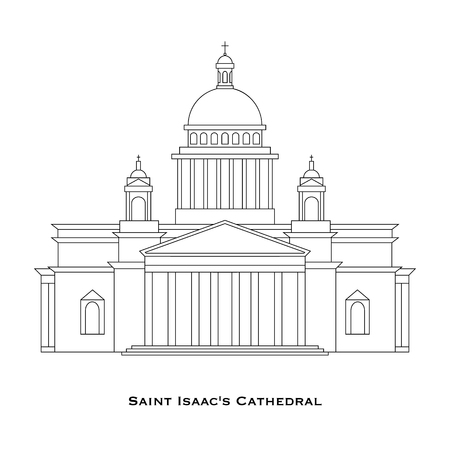 paper sculpture: St. Petersburg - Saint Isaacs Cathedral in linear style, Saint Petersburg, Russia