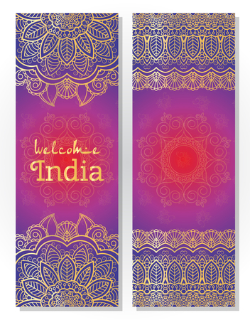 hola: Set of Indian traditional mandala ornament illustration concept. Poster, book,menu, abstract, ottoman motifs, element. decorative ethnic greeting card or invitation design background.