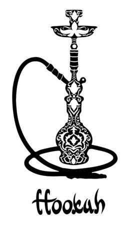 Narguilé icône illustration. Vecteurs