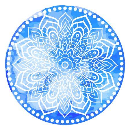 Mandala. Vintage watercolor decorative elements. Hand drawn background. Islam, Arabic, Indian ottoman motifs Illustration